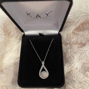 Diamond Necklace 1/2 ct Round-cut 10K White Gold